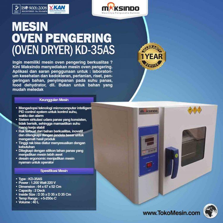 Mesin Oven Pengering (Oven Dryer) KD-35AS