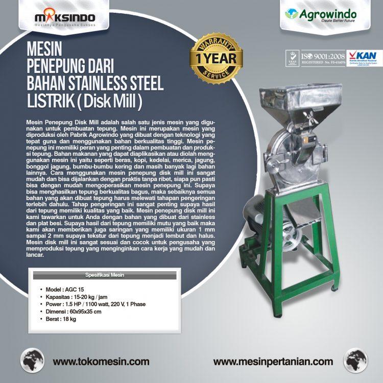 Mesin Pembuat Tepung listrik Disc Mill AGC 15