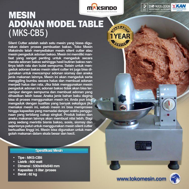 Mesin Adonan Model Table MKS-CB5