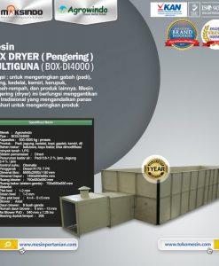 Mesin BOX DRYER (Pengering) MULTIGUNA BOX-DI4000