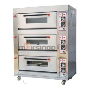 Mesin Oven Roti dan Kue Gas 3 tokomesin maksindo