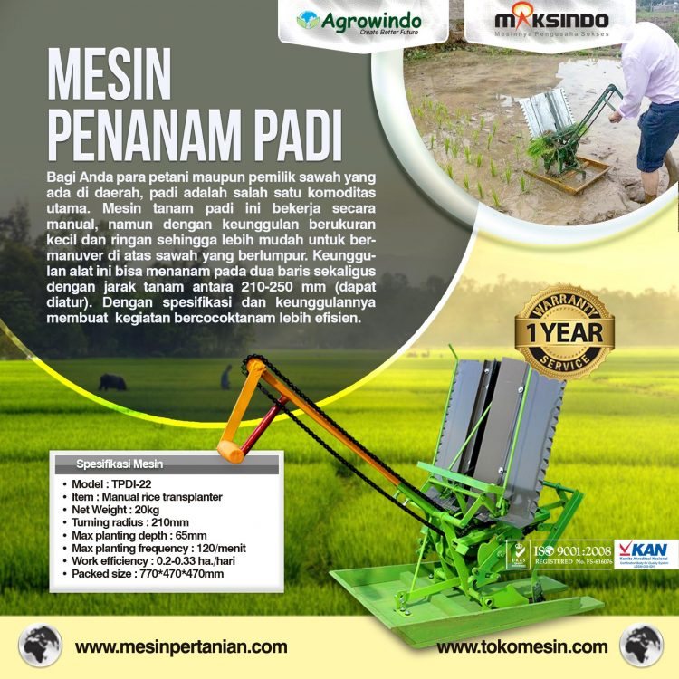mesin penanam padi