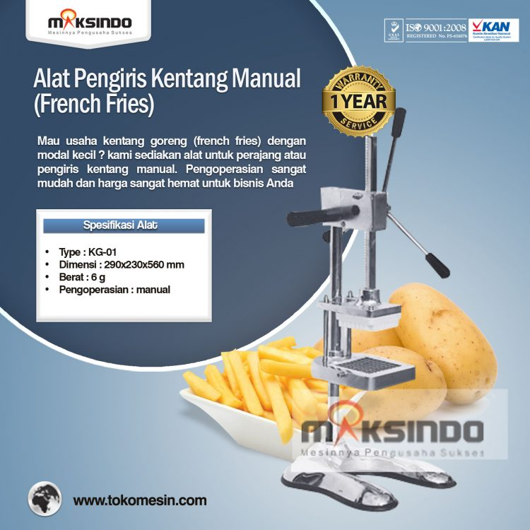Alat Pengiris Kentang Manual (French Fries) KG-01