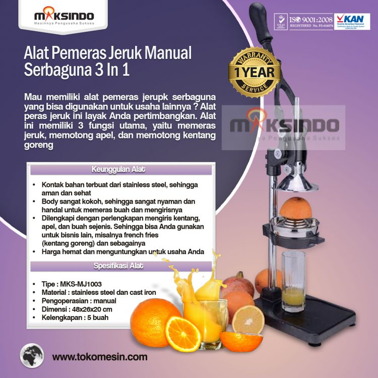 Alat Pemeras Jeruk Manual Serbaguna 3 in 1