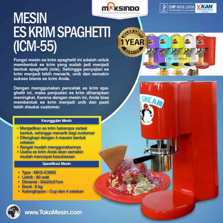 Mesin Es Krim Spaghetti (ICM-55)