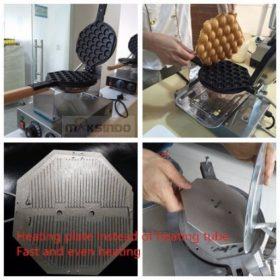 Mesin Egg Waffle Listrik (EW06) 3 maksindo