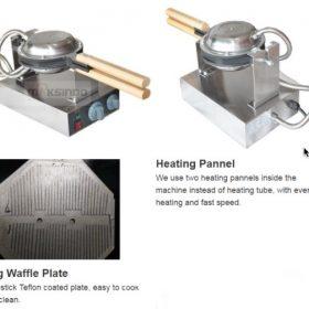 Mesin Egg Waffle Listrik (EW06) 4 maksindo
