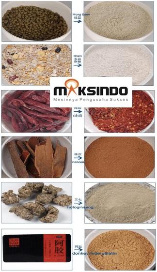 Mesin Penepung Biji-Bijian, Bumbu dan Herbal (GRAIN GRINDER) 1 maksindo