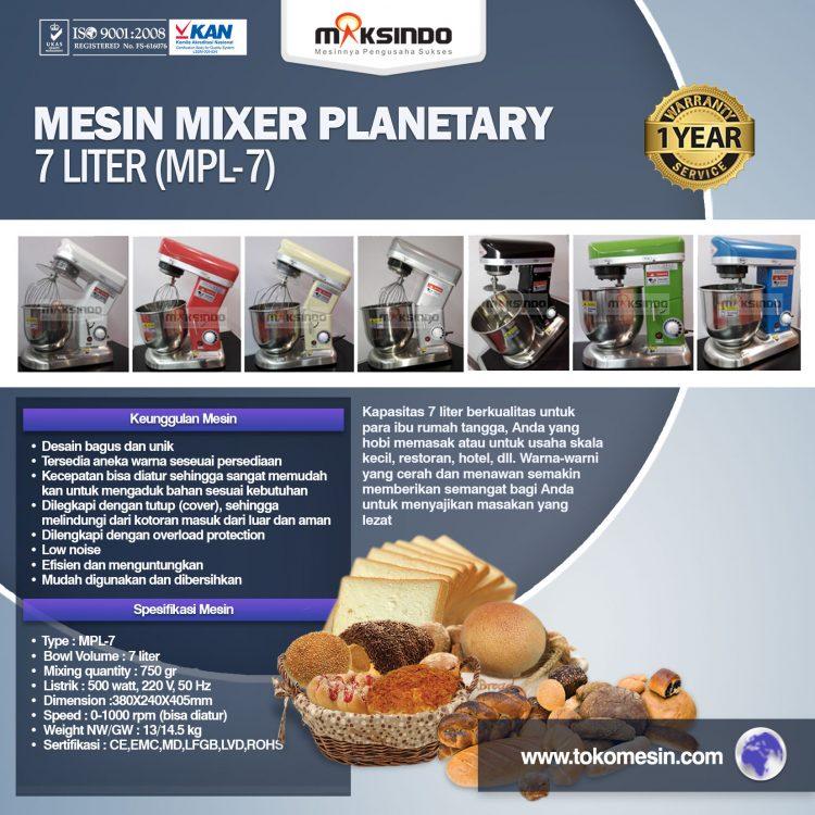 Mesin Mixer Planetary 7 Liter (MPL-7)