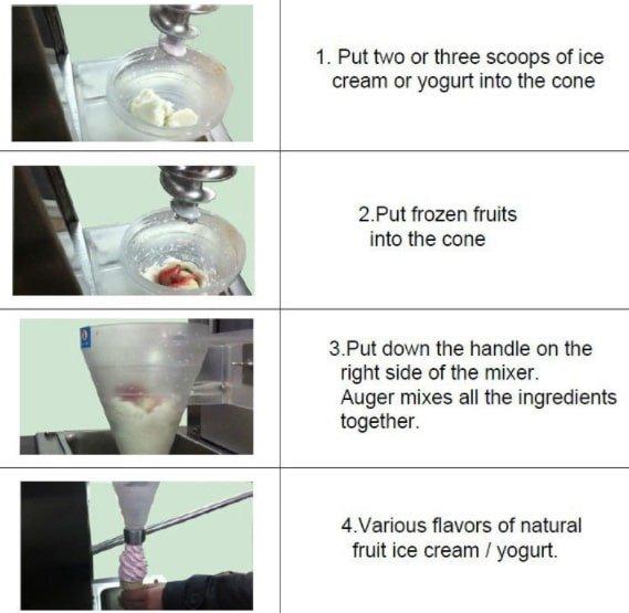 Mesin Blender Es Krim Yogurt Multifungsi 3 maksindo