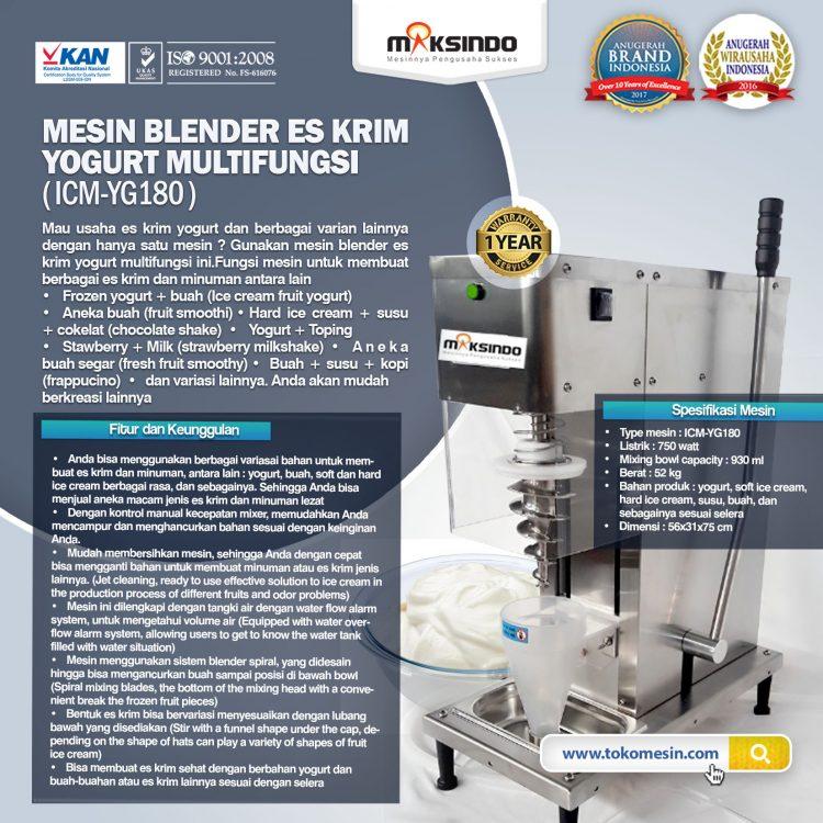 Mesin Blender Es Krim Yogurt Multifungsi ICM-YG180