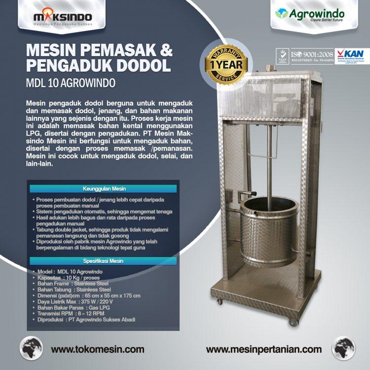 Mesin Pemasak dan pengaduk dodol MDL 10 Agrowindo