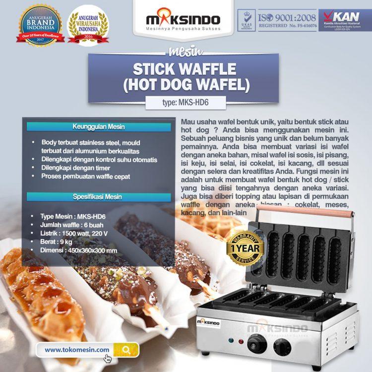 Mesin stick waffle( hot dog waffle ) MKS- HD6
