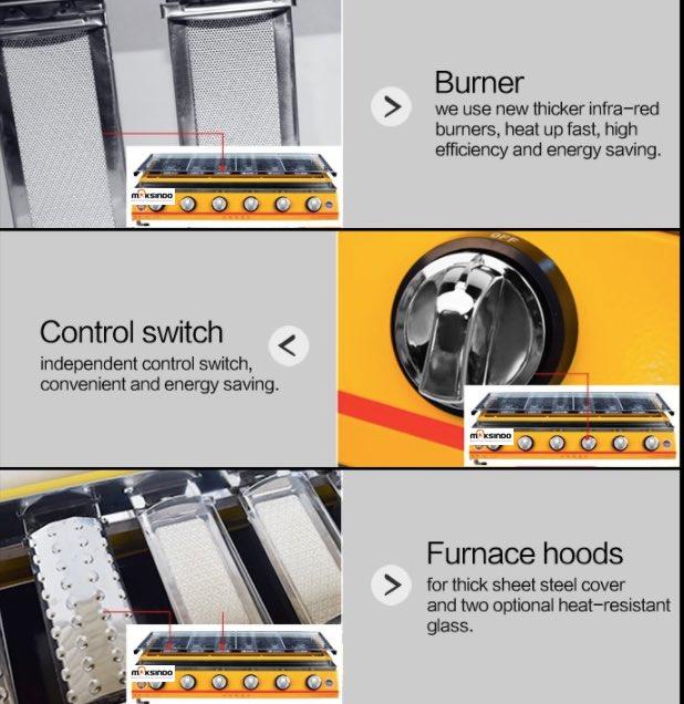 Pemanggang BBQ (gas) 8 Tungku 4 maksindo