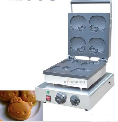 Mesin Cetak Kue atau Waffle Bentuk Hello Kity (Kitty1) 2 maksindo