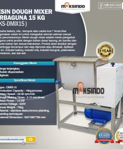 Mesin Dough Mixer Serbaguna 15 Kg (MKS-DMIX15)