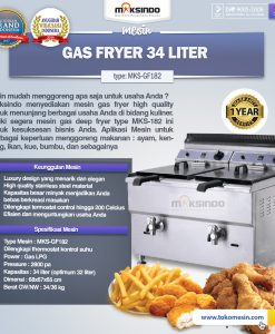 Mesin Gas Fryer 34 Liter (MKS-GF182)