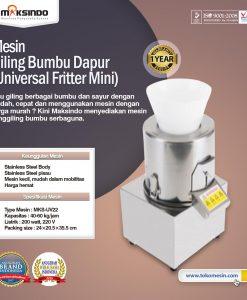 Mesin Giling Bumbu Dapur (Universal Fritter Mini) MKS-UV22