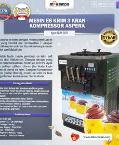 Mesin Krim 3 Kran Kompressor Aspera NEW MODEL (ICM-925)