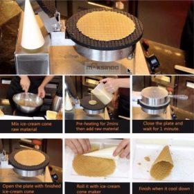 Pembuat Cone dan Mangkuk Es Krim (CIC21) 4 maksindo