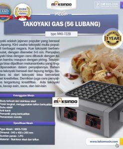 Takoyaki Gas (56 Lubang) MKS-722B