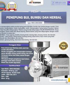 mesin Penepung Biji, Bumbu dan Herbal (GRD3000)
