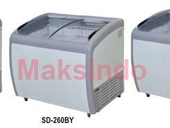 Sliding Curve Glass Freezer