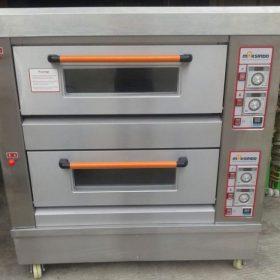 Mesin Oven Roti Gas 2 Rak 4 Loyang (GO24) 3 maksindo