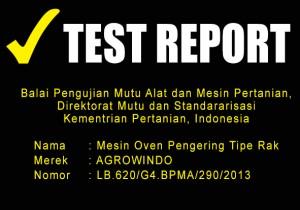 TEST REPORT MESIN OVEN PENGERING