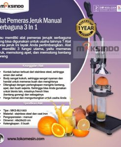 Alat Pemeras Jeruk Manual Serbaguna 3 in 1