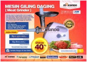 diskon 40% mesin giling daging maksindo