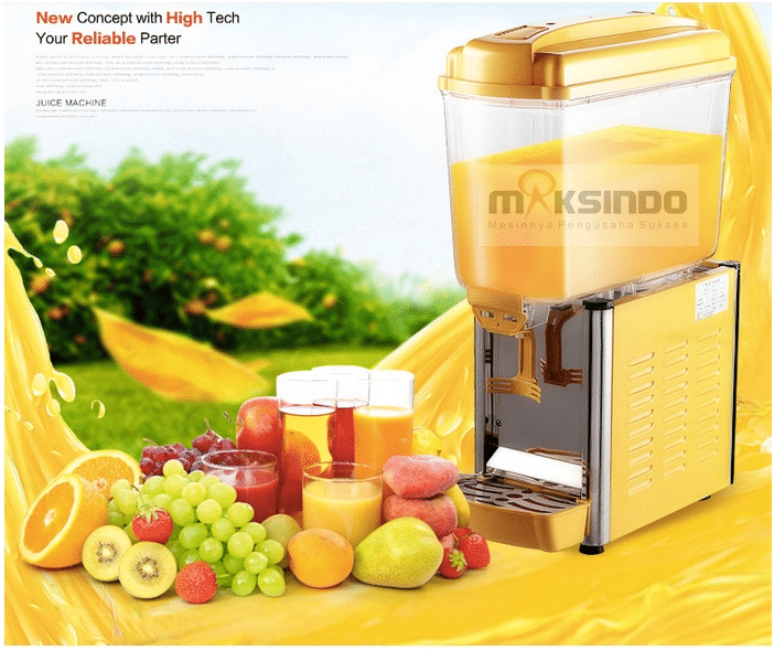 mesin juice dispenser 1 tabung 1 maksindo