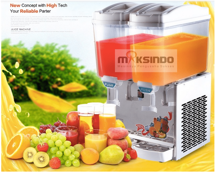mesin juice dispenser 2 tabung 1 maksindo