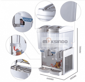 mesin juice dispenser 2 tabung 2 maksindo