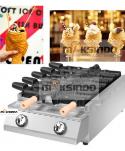 Mesin Kue Ikan Taiyaki 5 Pcs - Open Mouth Fish 1 maksindo