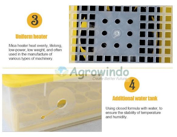 Mesin Penetas Telur Otomatis 48 Butir - AGR-YZ48-10