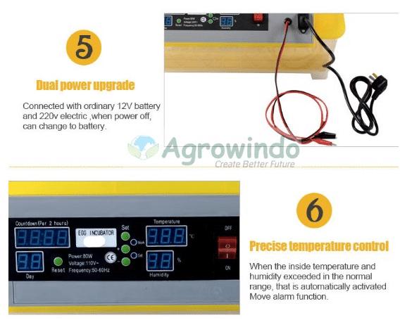 Mesin Penetas Telur Otomatis 48 Butir - AGR-YZ48-11