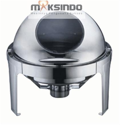 Chafing Dish Bentuk Bulat (Round Roll) 6 Liter 1 maksindo