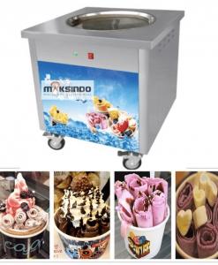 Mesin Fry Ice Cream (Es Krim Roll Goreng)-2-maksindo