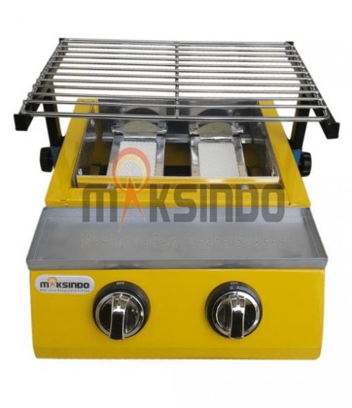 Mesin Pemanggang Sate - BBQ 2 Tungku (Gas) 1 maksindo