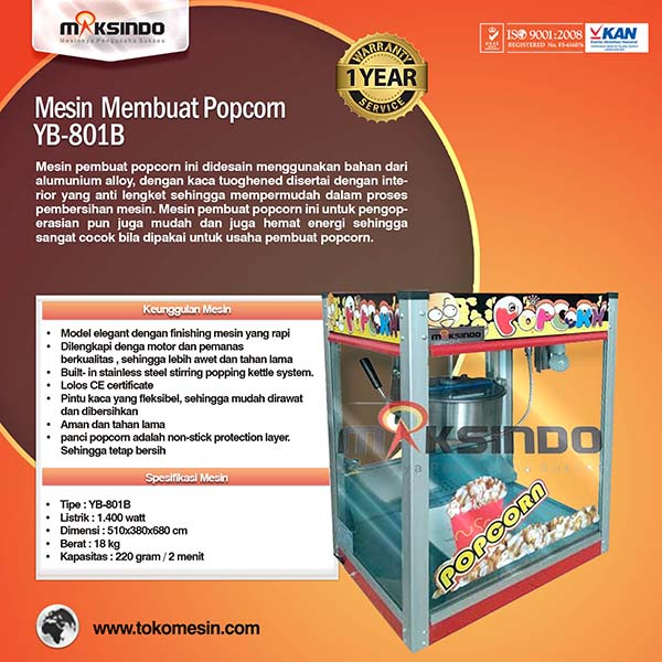 mesin-popcorn-untuk-membuat-popcorn-yb-801b