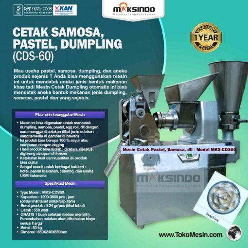 Cetak Samosa, Pastel, Dumpling (CDS-60)