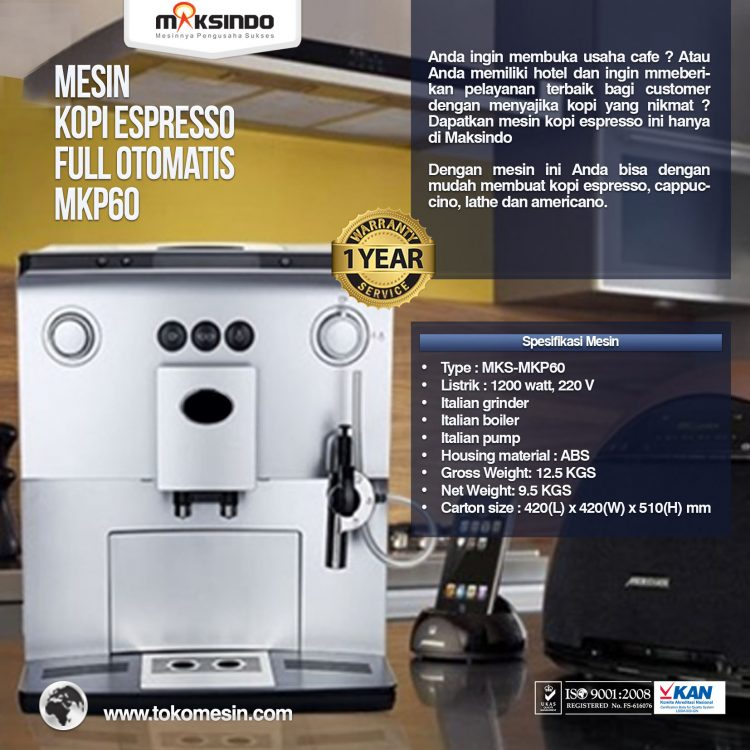 Mesin Kopi Espresso Full Otomatis - MKP60