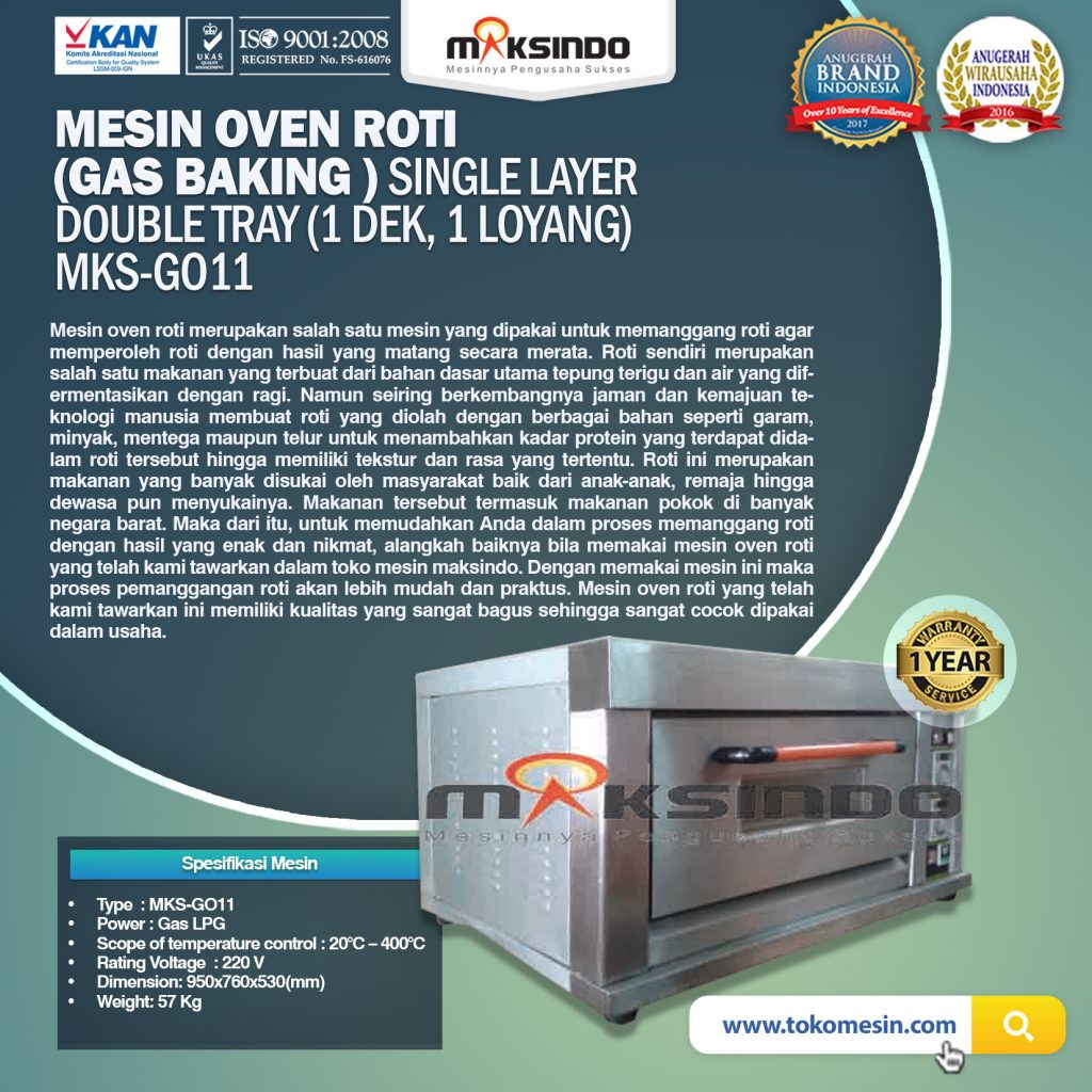 Mesin Oven Roti (Gas baking) MKS - GO11