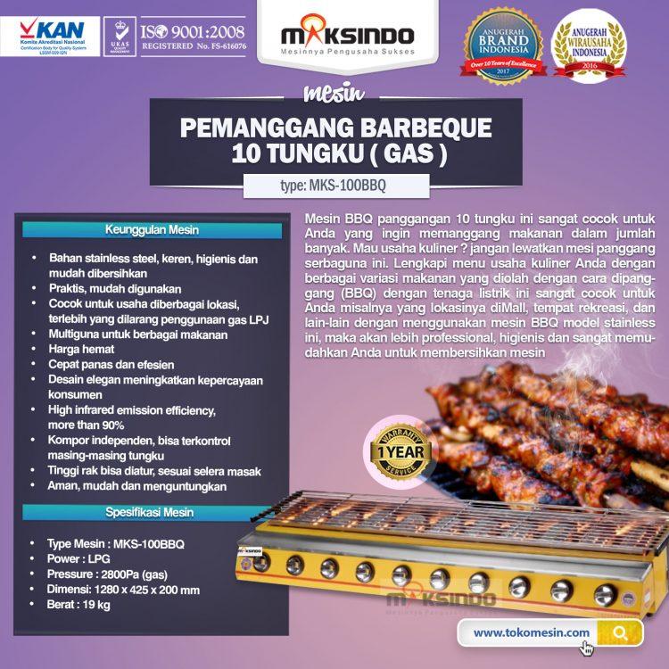 PEMANGGANG BBQ 10 TUNGKU MKS-100BBQ