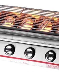 Pemanggang BBQ Stainless (gas) 4 Tungku 1 maksindo