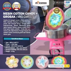 Mesin Cotton Candy + Grobak MKS-CART77