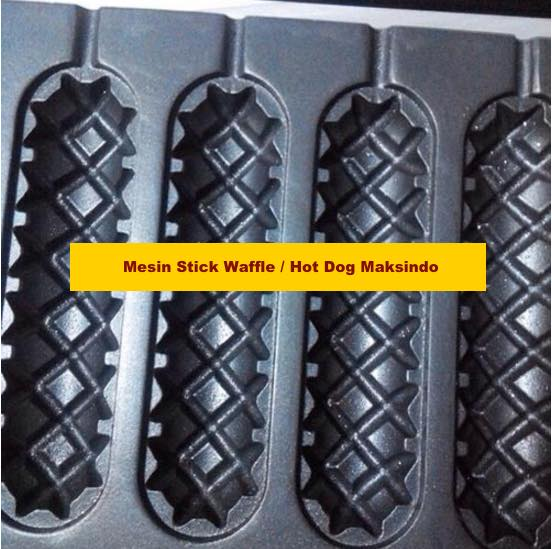 Mesin Stick Waffle (hot dog wafel) 4 maksindo