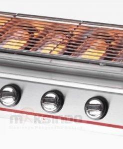 Pemanggang BBQ Stainless (gas) 6 Tungku 1 maksindo