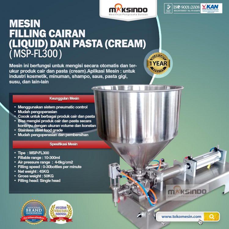 Mesin Filling Cairan (Liquid) Dan Pasta (Cream) MSP-FL300